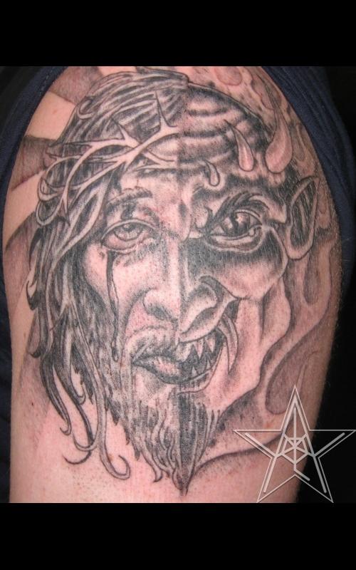 ... jesus christ king of kings color christian tattoo of the lion of judah