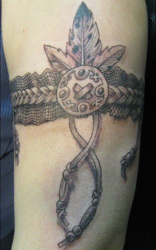 Native american tattoos muskegon michigan usa for Native american armband tattoo